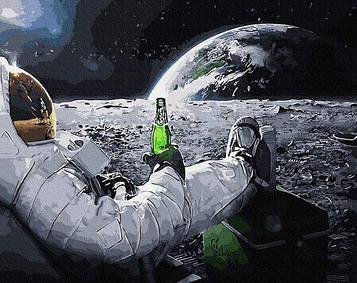 Картины по номерам 40х50 см Brushme Релакс в космосе (GX 34312)