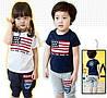 Летний костюм для мальчика и девочки рост 90-130 см.
