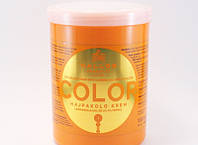 Маска для окрашенных волос с льняным маслом и ультрафиолетовым фильтром Kallos KJMN Color Hair Mask , 1000 мл,