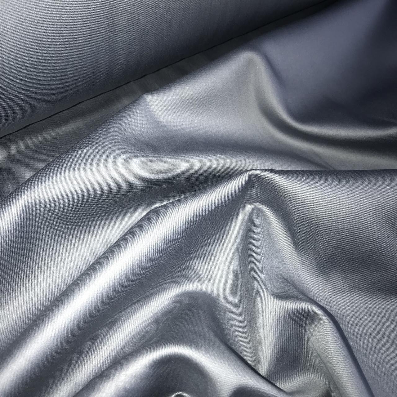 Сатин графитовый для постельного белья,  мерсеризованный  (ТУРЦИЯ шир. 2,4 м) № 31-32s ОТРЕЗ (1*2,4)