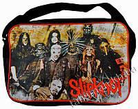 Рок-сумка - SLIPKNOT -5 (группа на коричневом фоне)