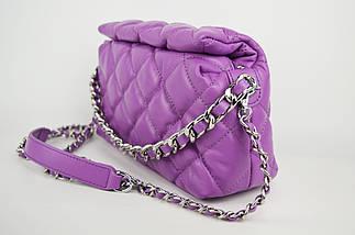 Сумка с цепью Polina&Eiterou 9572 Фиолетовый Натуральная кожа, фото 2