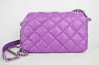 Сумка с цепью Polina&Eiterou 9572 Фиолетовый Натуральная кожа, фото 3