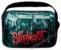 Рок-сумка - SLIPKNOT-1 (группа на зеленом фоне)