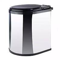 Ведро для мусора в шкаф с откидной крышкой 11 л