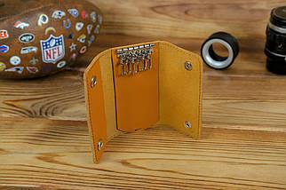 Ключниця на кнопках, шкіра Grand, колір Бурштин, фото 2