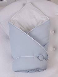 Демисезонный конверт-одеяло ВВ (голубой)