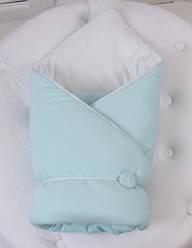Демисезонный конверт-одеяло ВВ (мятный)