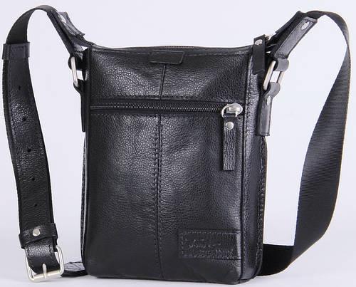 Мужская кожаная сумка через плечо Tom Stone 502B черный