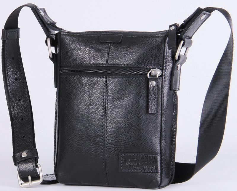 5d84d2f7f9b3 Мужская кожаная сумка через плечо Tom Stone 502B черный - SUPERSUMKA интернет  магазин в Киеве