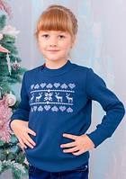 Детский новогодний свитер для девокчи