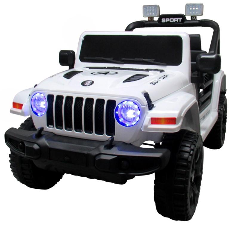 Електромобіль дитячий Jeep X10 з пультом управління білий (9367)