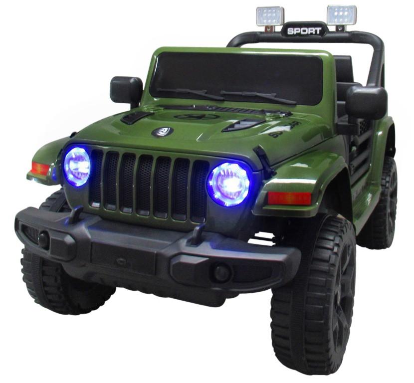 Електромобіль дитячий Jeep X10 з пультом управління зелений (9368)