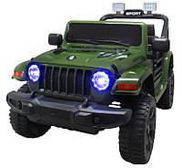 Электромобиль детский Jeep X10 с пультом управления зеленый (9368)