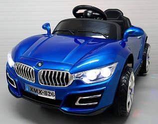 Электромобиль детский лакированный B16/Z4 с пультом управления  синий (9370)