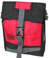 Сумка повседневная на плечо Turbat Yoko 917355 ВхШхГ: 26х18х8 см. чёрный/красный