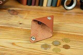 Шкіряна монетниця, шкіра Grand, колір Коньяк, фото 2