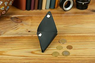 Шкіряна монетниця, шкіра Grand, колір Чорний, фото 2
