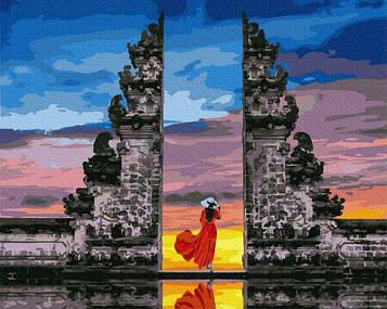 Картины по номерам 40х50 см Brushme Путешественница на Бали (GX 37987)
