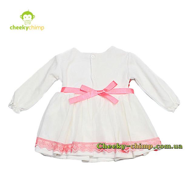 Велюровое платье с гипюром розовое на девочку 9, 12, 18, 24 мес