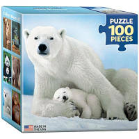 Пазл EuroGraphics Белая медведица с медвежонком 100 элементов (8104-1198)