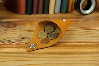 Кожаная монетница, кожа Grand, цвет Янтарь, фото 3