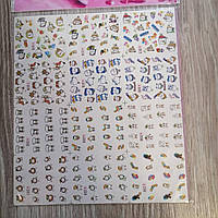 Наклейка слайдер для дизайна ногтей 12шт. № 7