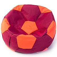 Бескаркасное кресло мяч  80 х 80 см Бордово-оранжевое