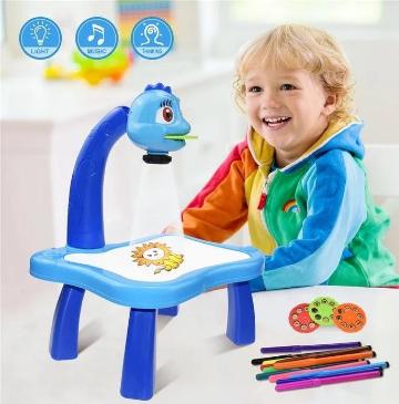 Дитячий столик з проектором для малювання з підсвічуванням