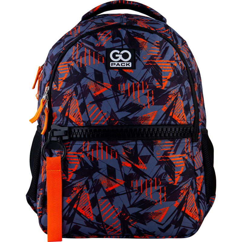 Рюкзак для города GoPack 161 City GO21-161M-1  42х30х13 см  500 г  20 л  черный, оранжевый