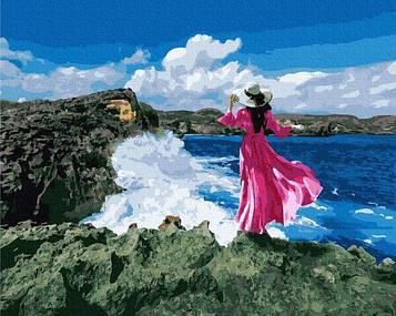 Картины по номерам 40х50 см Brushme Путешественница у моря (GX 38167)