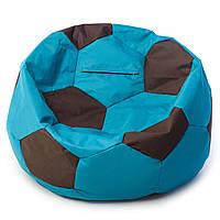 Бескаркасное кресло мяч  80 х 80 см Чёрно-голубое