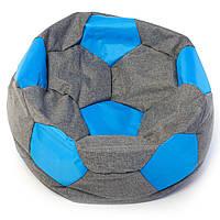 Бескаркасное кресло мяч  80 х 80 см  Графитово-голубое