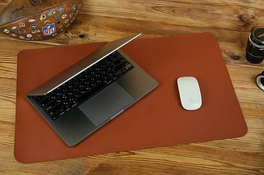 Кожаный бювар, подложка на стол 375 х 600 мм, натуральная кожа Grand, цвет Коньяк