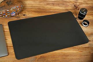 Кожаный бювар, подложка на стол 375 х 600 мм, натуральная кожа Grand, цвет Шоколад, фото 2