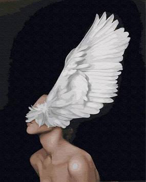 Картины по номерам 40х50 см Premium (цветной холст + лак) Крылья души (PGX 29240)(без коробки)