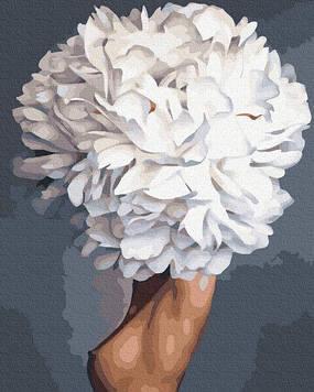 Картины по номерам 40х50 см Premium (цветной холст + лак) Цветенье роз (PGX 36767)(без коробки)