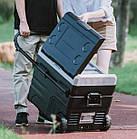 Автохолодильник с заморозкой 35 литров с аккумулятором на две секции и телескопической ручкой, фото 3