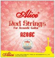 Струны для акустической гитары красные Alice A206C-SL медь (11-52)