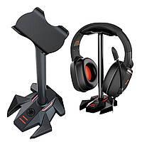 Підставка для навушників органайзер гарнітури на нековзною основі Plextone GP200 Black, фото 1