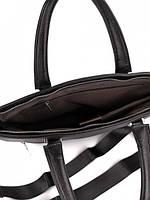 Классическая мужская деловая сумка из натуральной кожи Tiding Bag N7240 Черная, фото 4