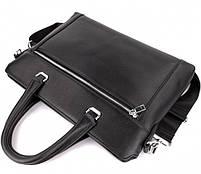 Классическая мужская деловая сумка из натуральной кожи Tiding Bag N7240 Черная, фото 7