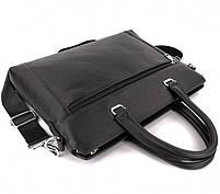 Классическая мужская деловая сумка из натуральной кожи Tiding Bag N7240 Черная, фото 8