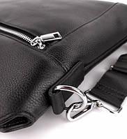 Классическая мужская деловая сумка из натуральной кожи Tiding Bag N7240 Черная, фото 5
