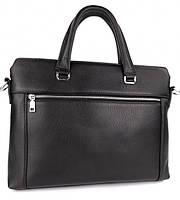 Классическая мужская деловая сумка из натуральной кожи Tiding Bag N7240 Черная, фото 2