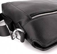 Классическая мужская деловая сумка из натуральной кожи Tiding Bag N7240 Черная, фото 9