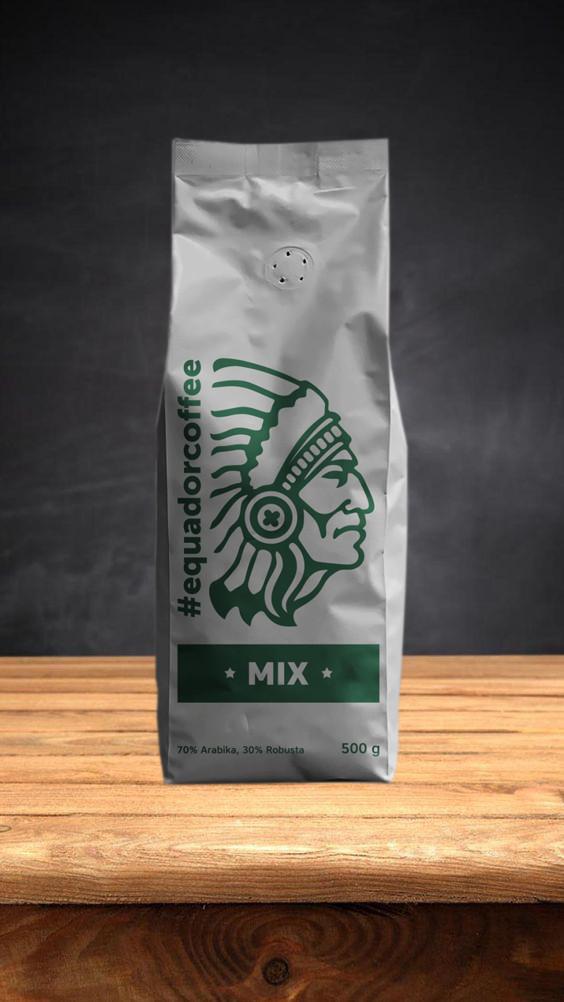 Кофе в зернах смесь арабики и робусты Luxe 70/30