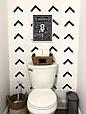Плакат постер Правила туалета А4 в раме белой на стену на русском, фото 2