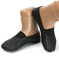 От 6 шт. Чешки чёрные из коже заменителя 14 см оптом - От 6 шт. купить в интернет магазине
