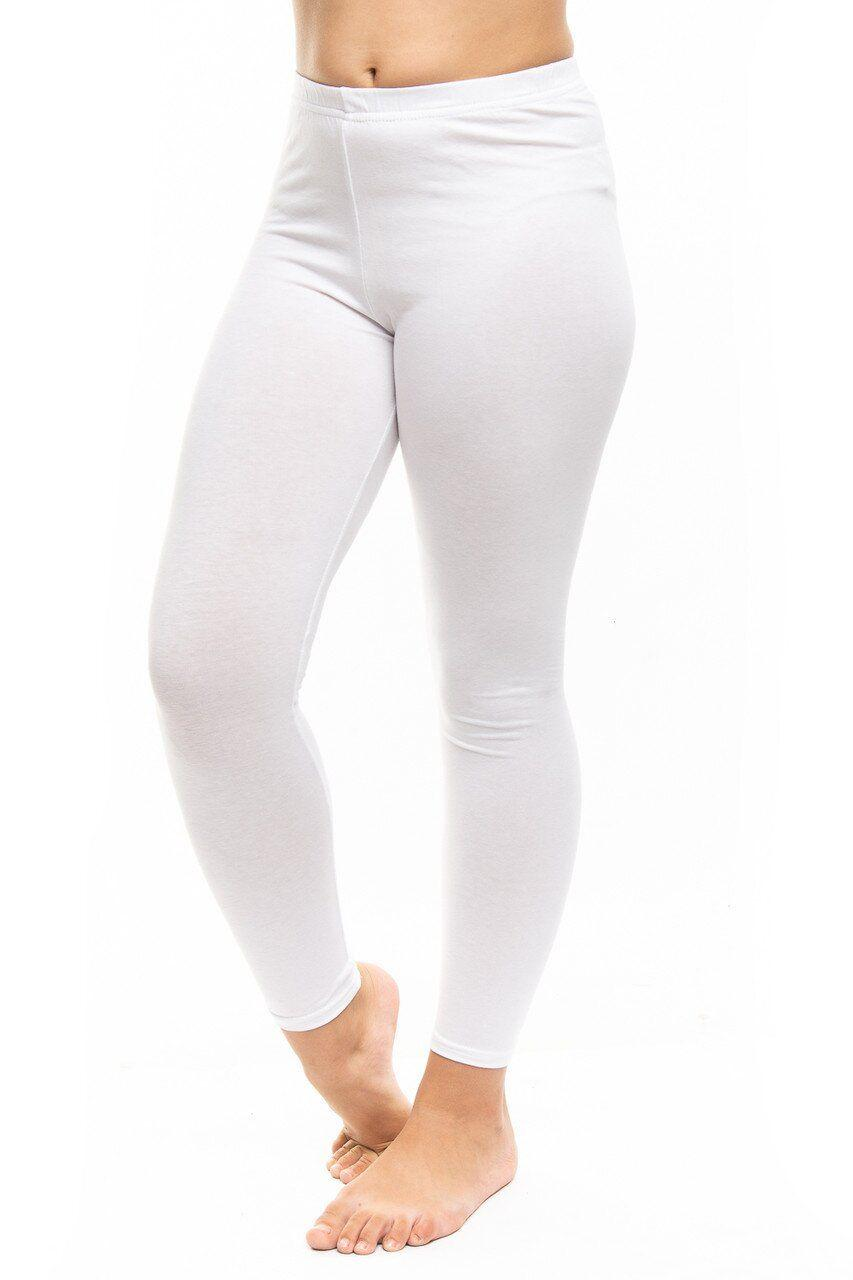 От 3 шт. Лосины трикотажные белые для танцев и гимнастики оптом - От 3 шт. купить в интернет магазине